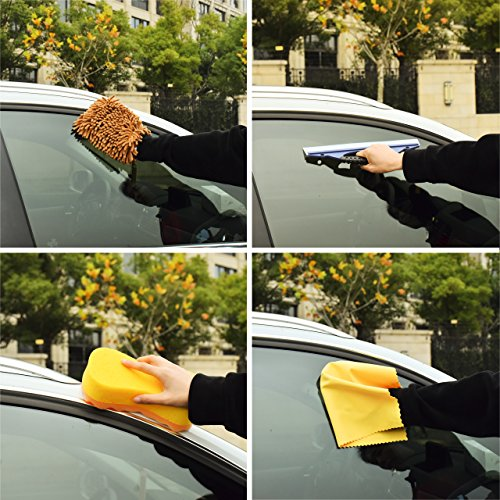 dedc car wash tool kit exterior and interior cleaning tools in box upgraded car vent brush tire. Black Bedroom Furniture Sets. Home Design Ideas