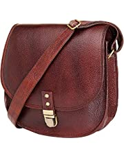 Urban Leather Shoulder Bags - Gift for Young Women & Teen Girls, Saddle Crossbody Bag Purse & Handbags, Genuine Leather Satchel Bags