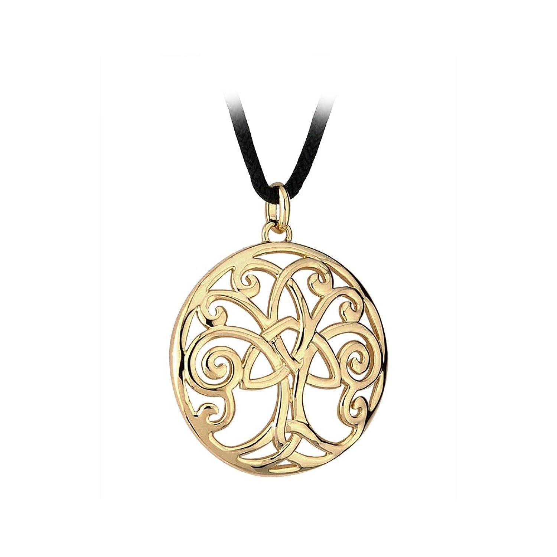 Amazoncom Solvar Tree of Life Necklace Gold Plated Irish Made