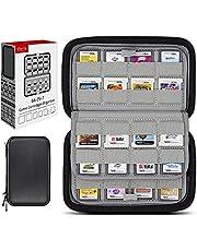 sisma Korthållare 64 Fack för Game Cards till 3DS 2DS DS Switch - Förvaringsväska Hårt Fodral -Svart