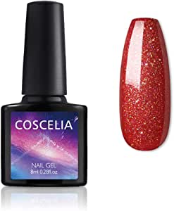 Coscelia Neon Gel Polish Nail Art Manicure Semi Permanent Gel Varnish Primer for Nails Manicure Uv Lamp Gel Nail Polish #RED