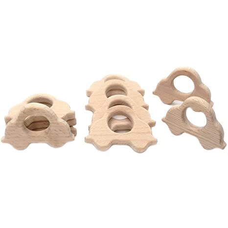 Coskiss 10pcs Coches de madera original mordedores para bebés ...