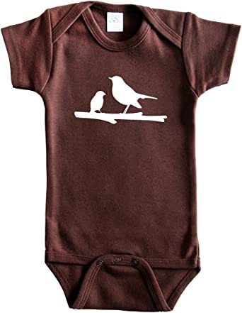 Mama Bird Silhouette Baby Bodysuit