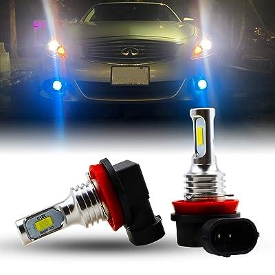 Jackma555 2pcs H9 LED Fog Light Bulbs, H11 LED Bulb, H8 H16 Fog Lights Lamp Replacement - 3570 CSP Chips Super Bright (color: Ice-bule): Automotive