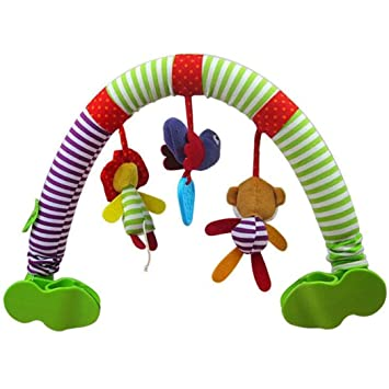 Newborn Infant Baby Hanging Toys Stroller Bed Crib For Tots Cots Animals Rattles