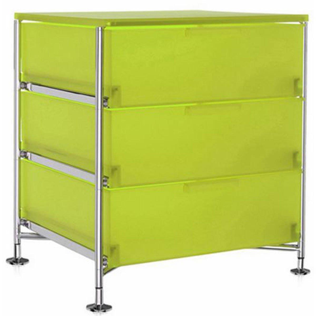Kartell 2330L3 Container Mobil, 3 Schubladen, zitronengelb