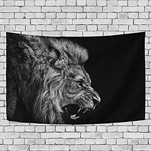 Vipsk Lion Tapestry Wall Hanging Artistic Polyester Fabric Cottage Dorm Wall Art Home Decoration 60x51 inches