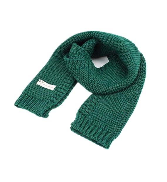 QHDZ Pañuelo largo Bufandas de lana para niños Abrigo de chal cálido Bufanda  de tejer invierno 5fe2269869b