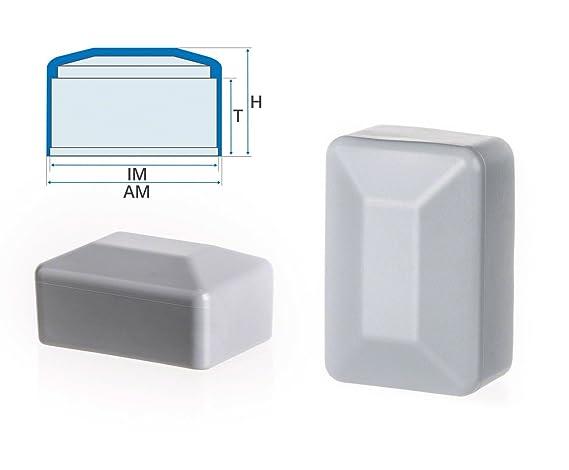 10 Stck Zaunpfahlkappe quadratisch 50x50 mm Schwarz Zaunpfostenkappen Zaunabdeckung Kunststoff