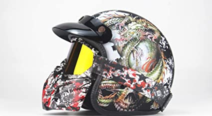 Cascos Moto Hombre Y Mujer Casco Mountain Bike Casco Harley Casco Cráneo Four Seasons,Red