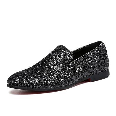 b7c95625adab8 Amazon.com: MMM Shoes Men's Shoes Glitter Summer Fall Moccasin ...