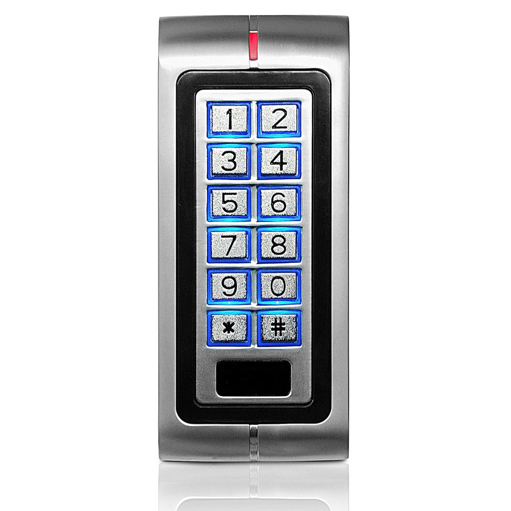 UHPPOTE Metal Standalone Keypad 125KHz EM Card Access Control Machine for 1 Door