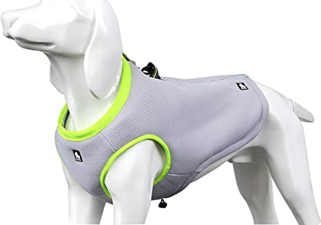 9636372e68f7 Amazon.com   SGODA Dog Cooling Vest Harness Cooler Jacket Grey Green ...