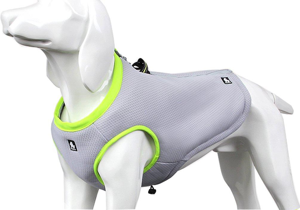 SGODA Dog Cooling Vest Harness Cooler Jacket Grey Green Medium