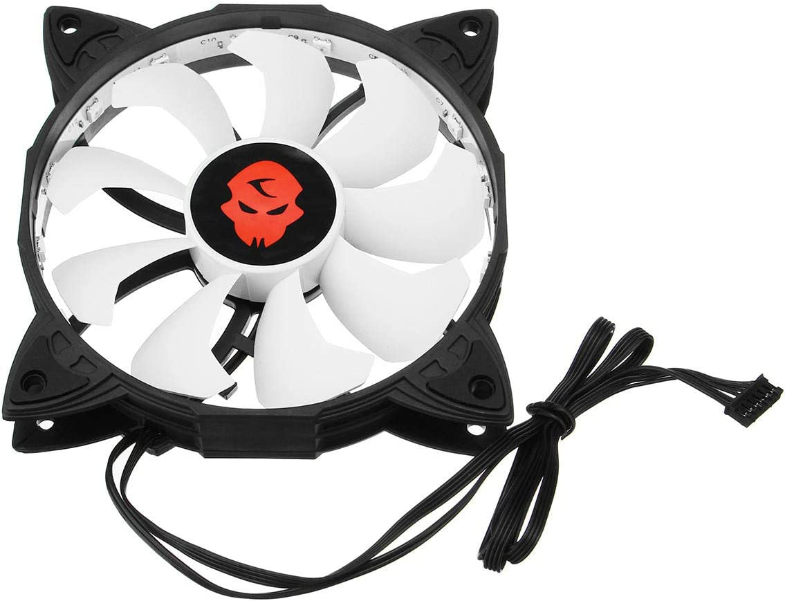 MITUHAKI 30000Hrs 3PCS 120mm Adjustable LED Cooling Fan with Controller Remote For Cooling 3 x LED Fans 1 x One-driven-six Controller With IR Receive Line 1 Computer Components CPU Cooling Fans