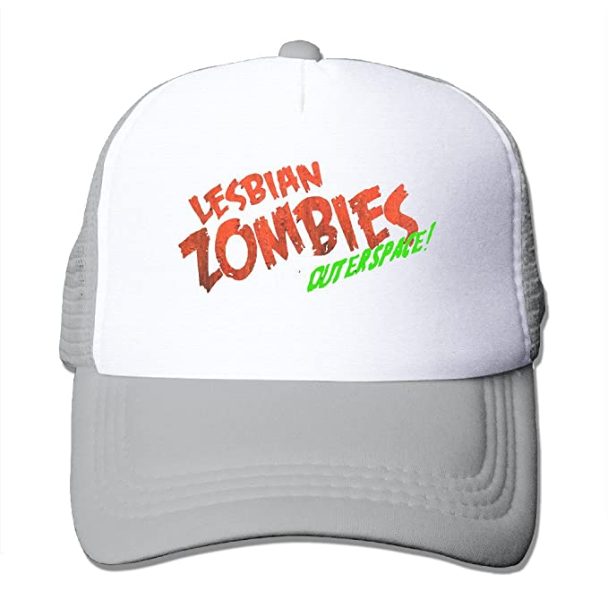 84bb04977d1 Amazon.com: Lesbian Zombies From Outer Space Fitted Mesh Trucker Cap ...