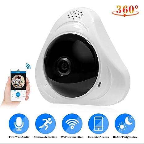 Fisheye HD 960P panorámico VR IP WIFI 360 grados de red 3D Cámara de seguridad
