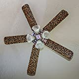 Fancy Blade Ceiling Fan Blade Cover Decoration, Leopard Print