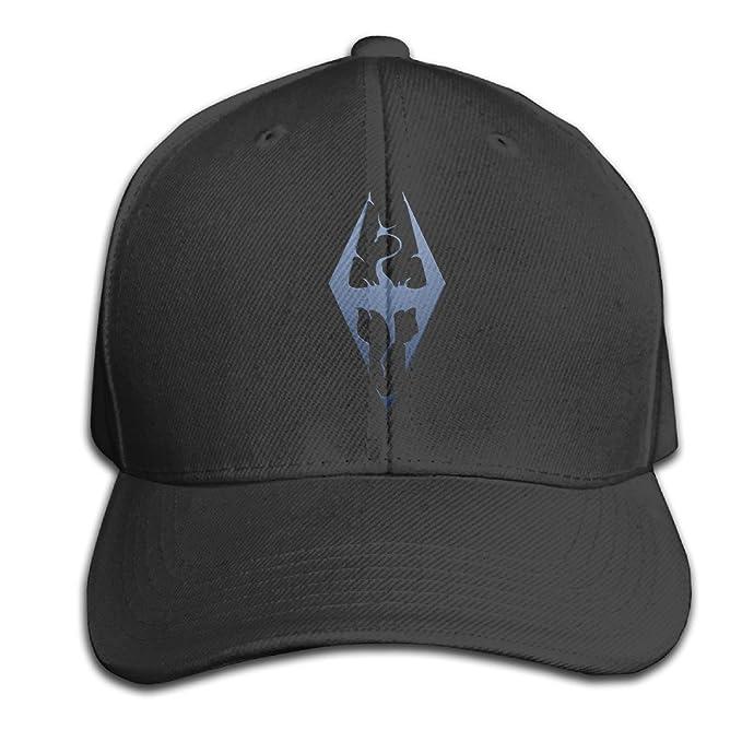 25da5a717456e Unisex The Elder Scrolls V Skyrim Video Games Snapback Baseball Hat Cool  Black  Amazon.ca  Clothing   Accessories
