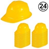 Funny Party Hats Construction Party Hats - 24 Pack - Construction Hats - Soft Plastic Hats - Construction Party Supplies