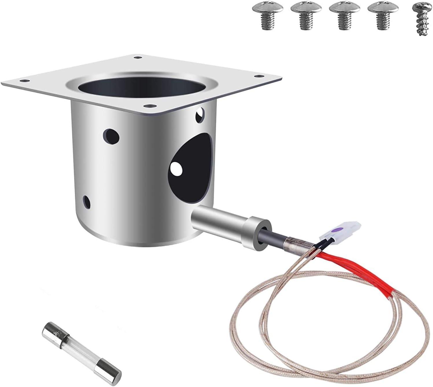 QuliMetal Fire Burn Pot Replacement Parts for Traeger Pellet Grill Burner
