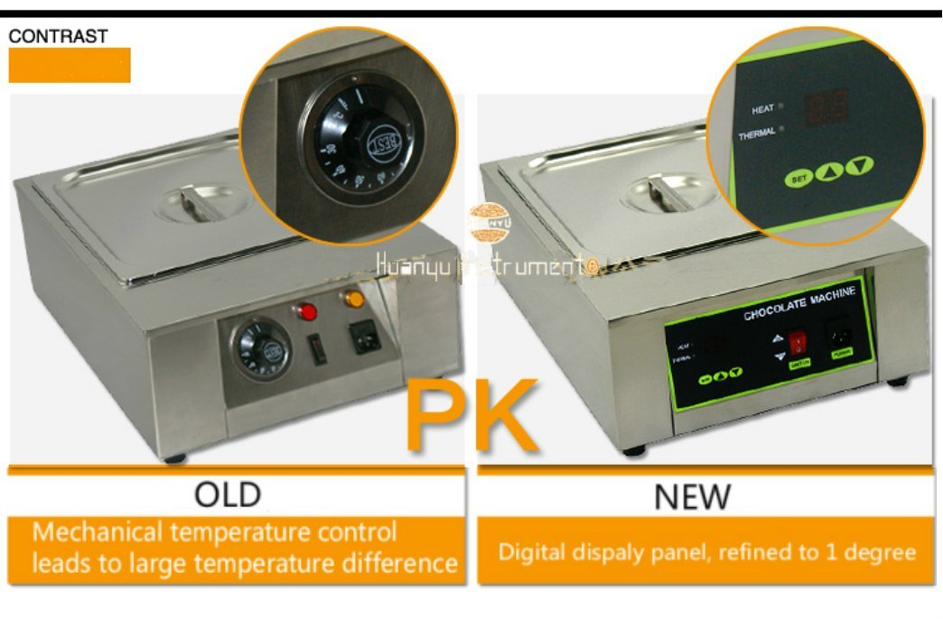 D2002-1 Commercial Digital Display Electric Stainless Steel 1 pots Chocolate Melting Machine Furnace Pot (220V)