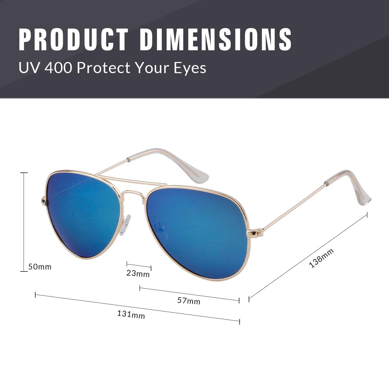 ADEWU Aviator Polarisierte Sonnenbrille UV400 Schutz Spiegel Linse ...