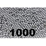 1000 ct Silver Zinc Plated Metal BBs 4.5mm (.177 Cal)