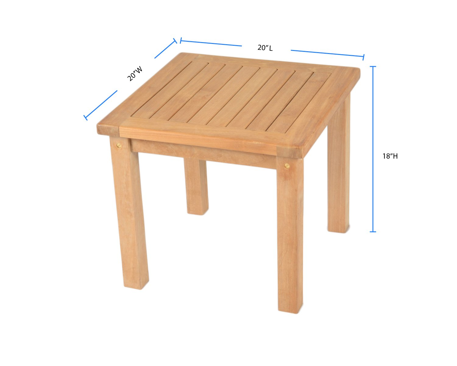 Amazon Com Tortuga Outdoor Jakarta Teak Square Side Table Garden