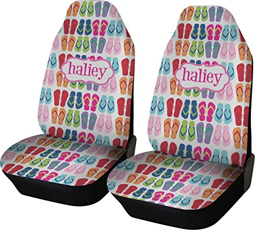 vers (Set of Two) (Personalized) (Flip Flop Seat Covers)
