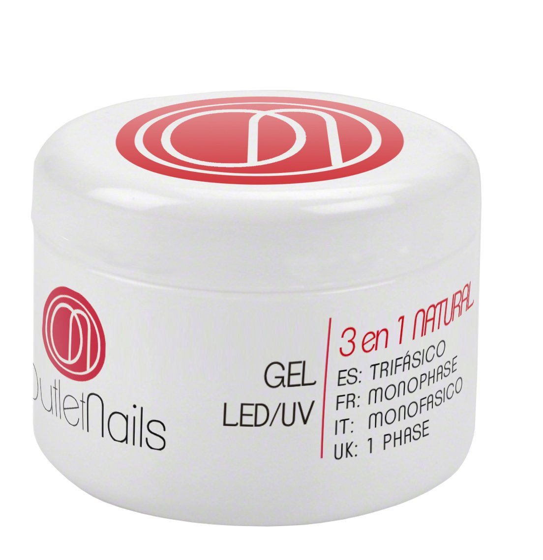 Gel Trifasico Natural UV/LED 15ml para Uñas de OUTLET NAILS, Viscosidad media, Monophase Gel UV/LED/Monofasico Ser Beauty S.L.