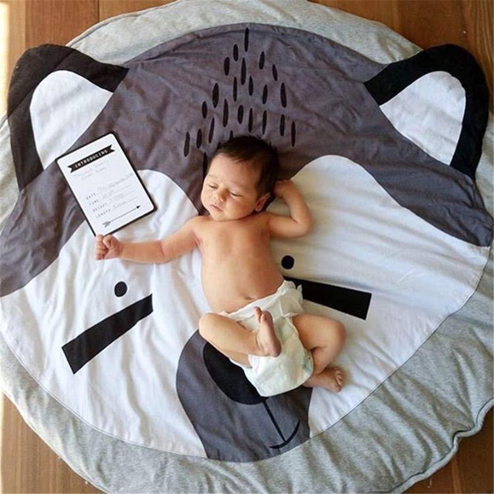 Abreeze Kids Nursery Rug Bunny Shaped Play Mat Round Carpet Cartoon Rabbit Design Home Room Decor 35X37 inches,Pink