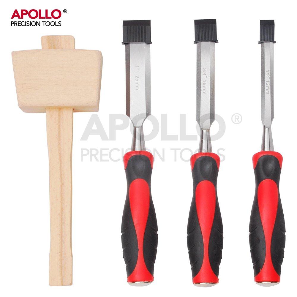 Apollo Stechbeitel-Set bestehend aus 4 Holzmeißeln mit gehärtetem ...
