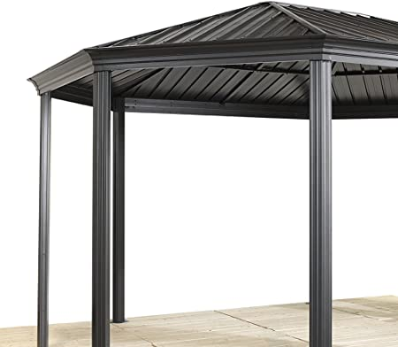 Sojag Gazebo Komodo - Cenador de aluminio (12 x 18 cm, 363 x 546 cm, techo duro): Amazon.es: Jardín