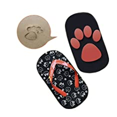 D-Sun Cat Claw Footprint Flip Flops Sandals on the Beach