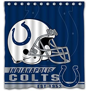Felikey Custom Indianapolis Colts Waterproof Mildew Proof Shower Curtain With Color Bathroom Decoration Size Of 66x72
