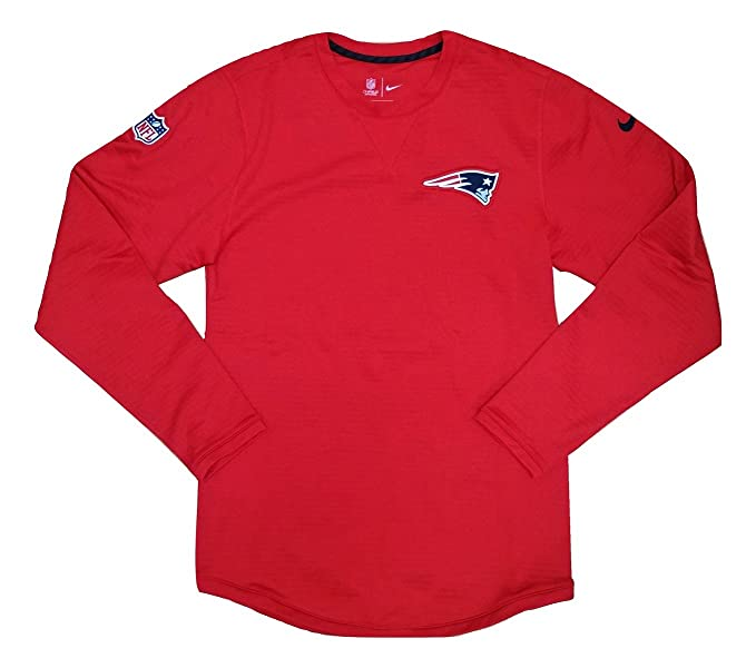 Nike Men s New England Patriots Onfield Long Sleeve Fleece Tee 87553-657  Team Red ( 088a6a733