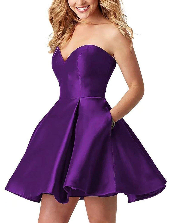 Purple Cocktail Dress 2018