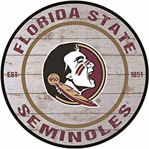 Poeni Aluminum Signs Vintage Metal Signs Florida State Seminoles Wall Deacor for Dorm Coffee Bar Dorm, 11.9X11.9Inches(30x30cm)