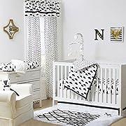 Fluffy Cloud Black and White Baby Crib Bedding - 11 Piece Sleep Essentials Set
