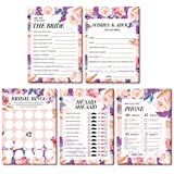 5 Bridal Shower Games Wedding Anniversary Game | He Said She Said | How Well do You Know the Bride | What is on Your Phone game | Marriage Advice and Well Wishes | Bridal Shower Bingo (10 sheets per game, 5 games)
