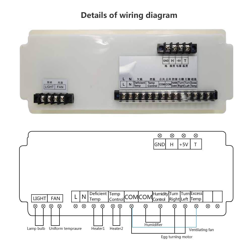 Huatuo Large Incubator Automatic Multifunctional Controller Parts Egg Wiring Diagram With Temperature Humidity Sensors Xm 18sd Garden Outdoors