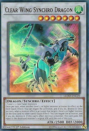 LEDD-ENC?? Ultra Rare 1st NM Legendary Clear Wing Synchro Dragon