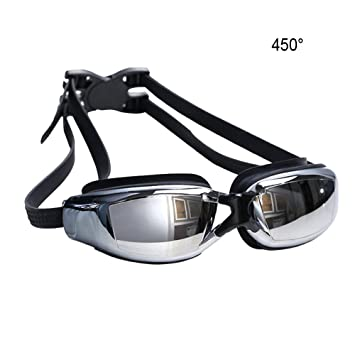 0da1188953 Baiyu Swimming Goggles Myopia UV Protection Waterproof Anti-Fog Adjustable  Mirrored Electroplating Nearsighted Prescription Swim