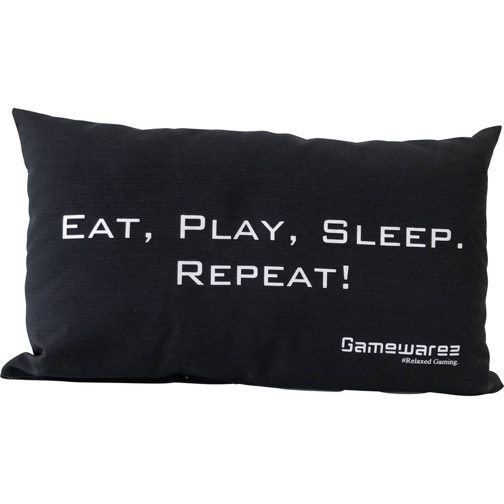 Repeat Play Cojines de viaje //Travel Pillow para la sala de estar y el dormitorio GAMEWAREZ Cojines Eat Sleep gris 30x50cm