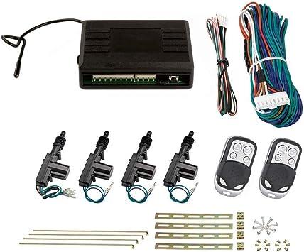 Zentralverriegelung 2 Chrom Sender universal Auto
