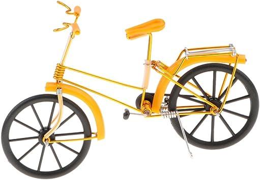 Toygogo Regalo De Recuerdos De Artesanía De Hierro Creativo Modelo De Bicicleta Mini Modelo De Bicicleta - Amarillo: Amazon.es: Juguetes y juegos