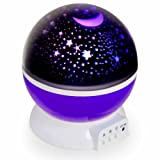 Night Light Projection Lamp for Children - Childs Sensory Lights Creates a Perfect Mood for Slumber with Starlight Projector Lighting - Relaxing Baby Bedrooms Lights – Perfect Nursery Nightlights (Purple)