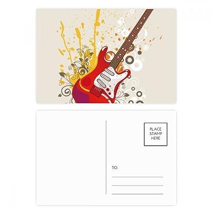 DIYthinker Guitarra eléctrica de la música de jazz Cultura postal Conjunto de tarjeta de cumpleaños de