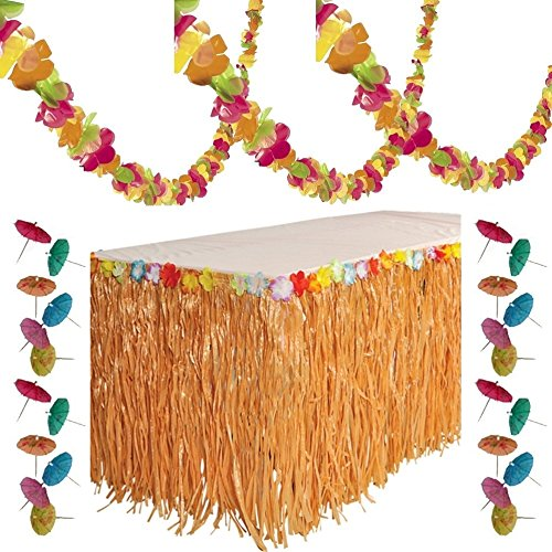Tropical Decorations Plastic Garland Parasol